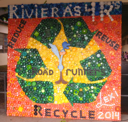 riviera bottle cap mural