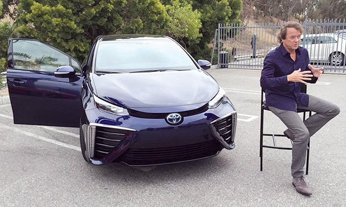 Mike SUllivan with Toyota Mirai